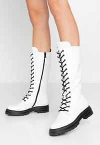 MJUS - Platform boots - bianco - 0