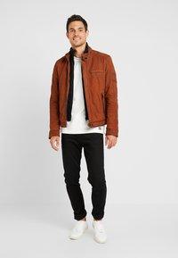 Oakwood - JAYDEN - Leather jacket - whisky - 1