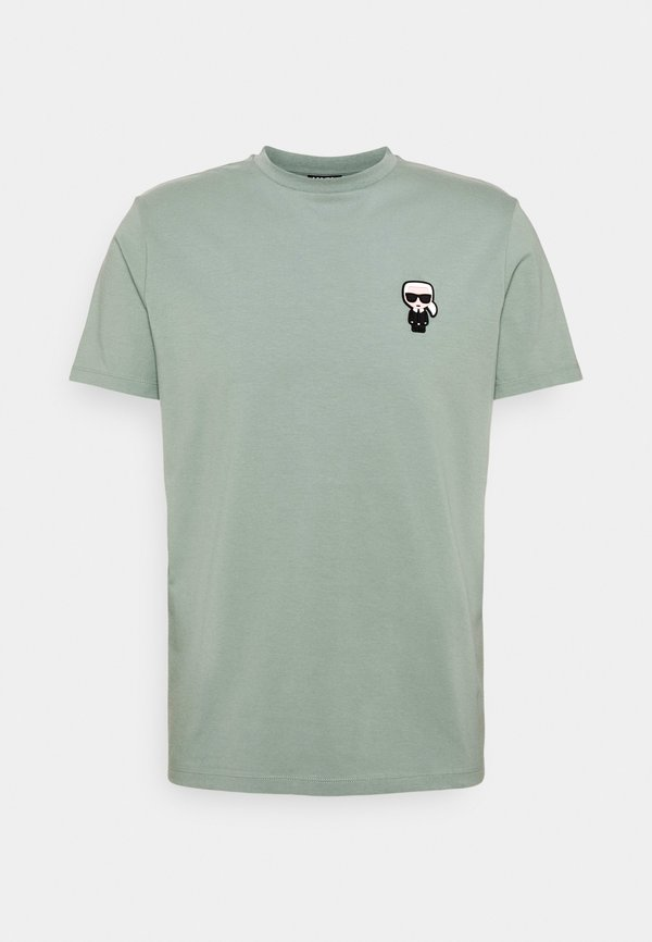 KARL LAGERFELD CREWNECK - T-shirt z nadrukiem - jade green/zielony Odzież Męska VLYS