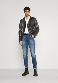 Goosecraft - VICK BIKER - Leather jacket - black - 1