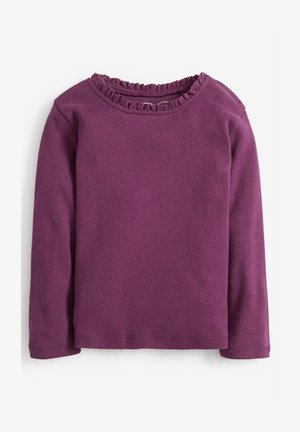 BRUSHED POINTELLE - Long sleeved top - purple