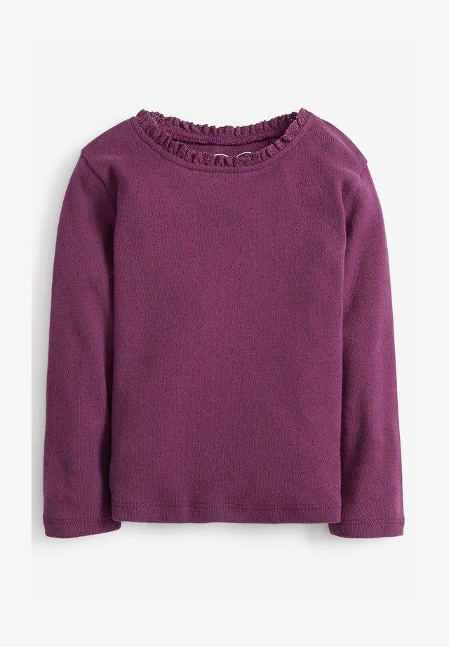 BRUSHED POINTELLE - Long sleeved top - purple