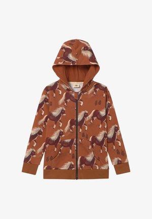 Zip-up hoodie - braun