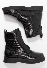MJUS - Kotníkové boty na platformě - black - 3