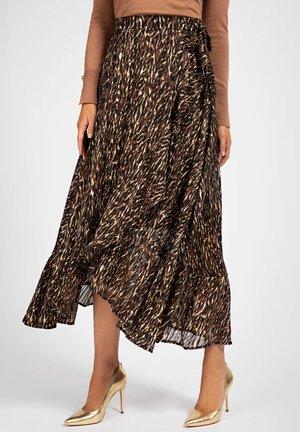 Maxi skirt - mehrfarbig braun