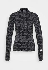 adidas Performance - Long sleeved top - black/white - 8