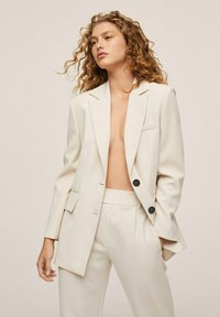 Mango - MED PRESS - Trousers - offwhite - 4