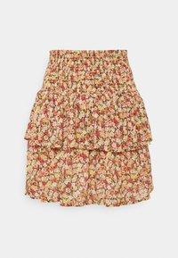 Object Petite - OBJMILA SMOCK SKIRT - Mini skirt - sandshell - 0