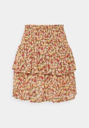 OBJMILA SMOCK SKIRT - Mini skirt - sandshell