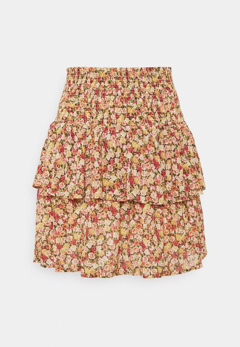 Object Petite - OBJMILA SMOCK SKIRT - Mini skirt - sandshell