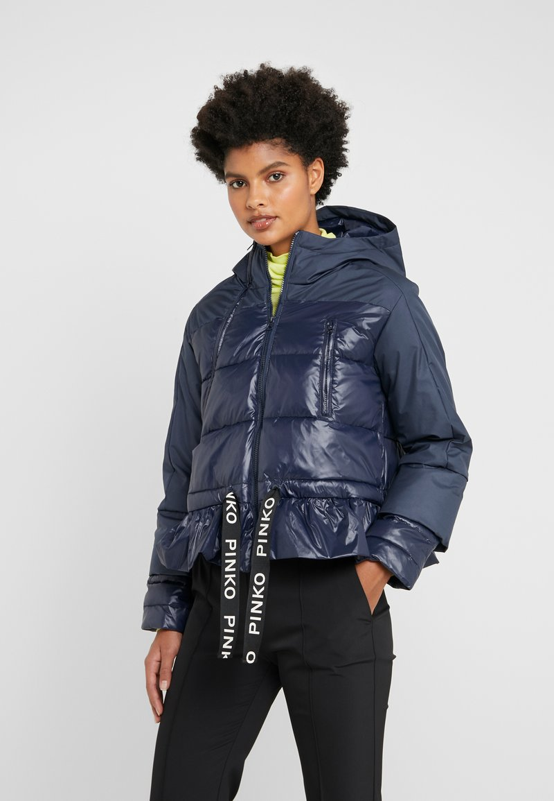 Pinko - TELA - Winter jacket - blue dipinto