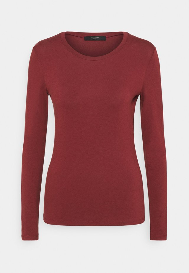 MULTIE - Long sleeved top - bordeaux