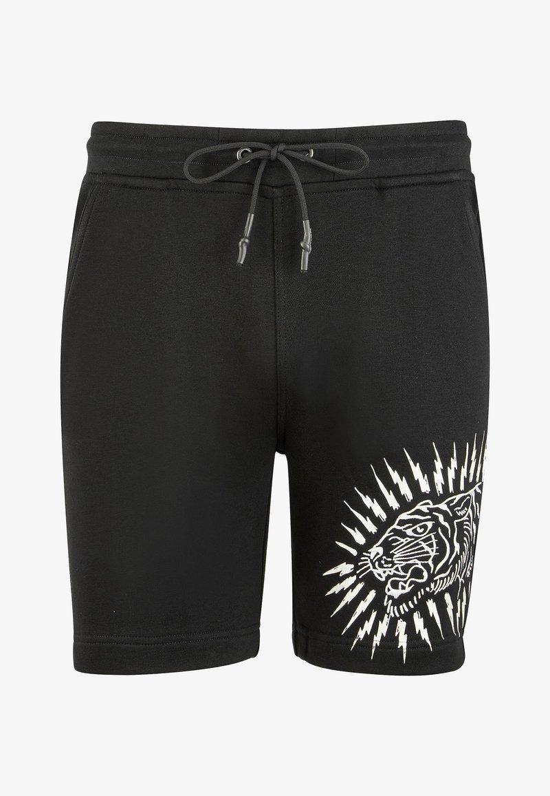 Ed Hardy - TIGER LIGHTNING SHORT - Shorts - black
