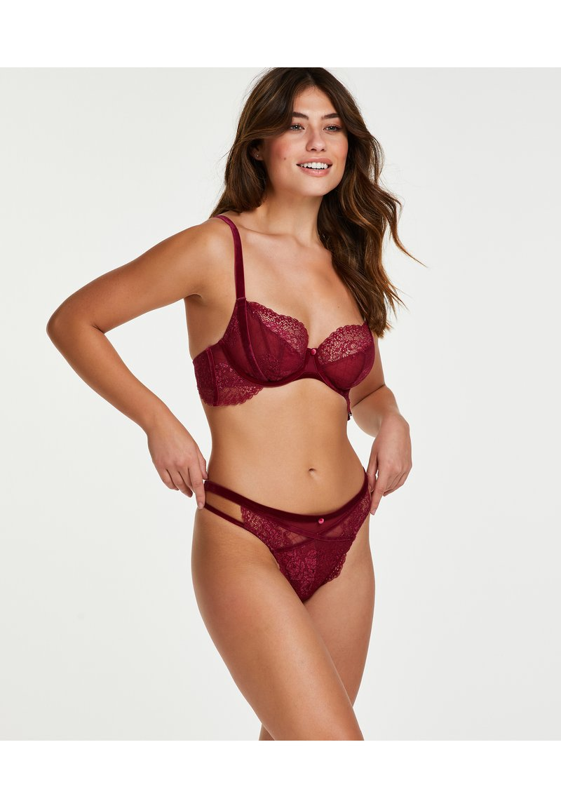 Hunkemöller - Thong - dark red