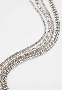 Topman - TWIST CHAIN MROW 4 PACK - Necklace - rhodium-coloured - 4