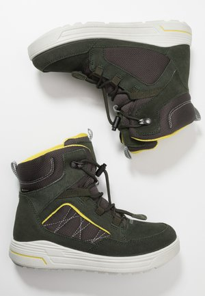 URBAN SNOWBOARDER - Winter boots - deep forest/canary