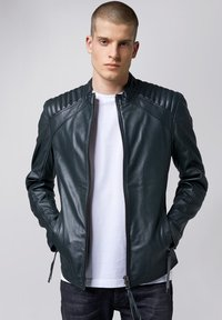 Tigha - Leather jacket - asphalt - 0