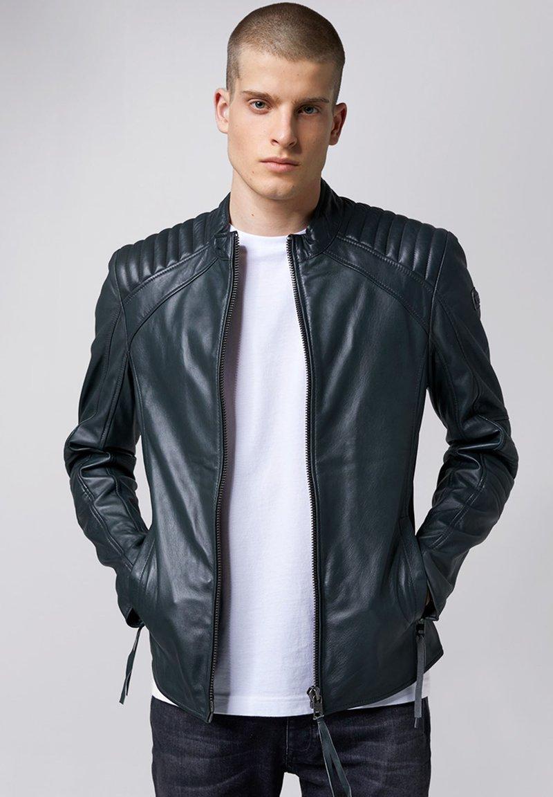 Tigha - Leather jacket - asphalt