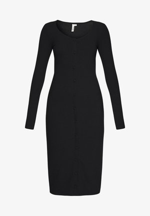 FRONT BUTTON DRESS - Tubino - black