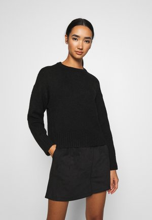 BASIC- SHORT JUMPER - Strikkegenser - black