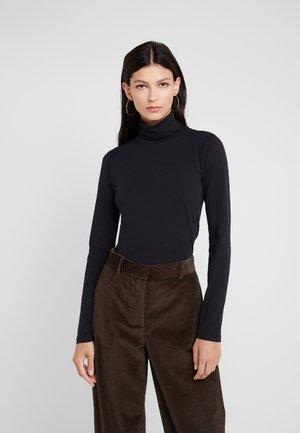 TISSUE TURTLENECK - Long sleeved top - black