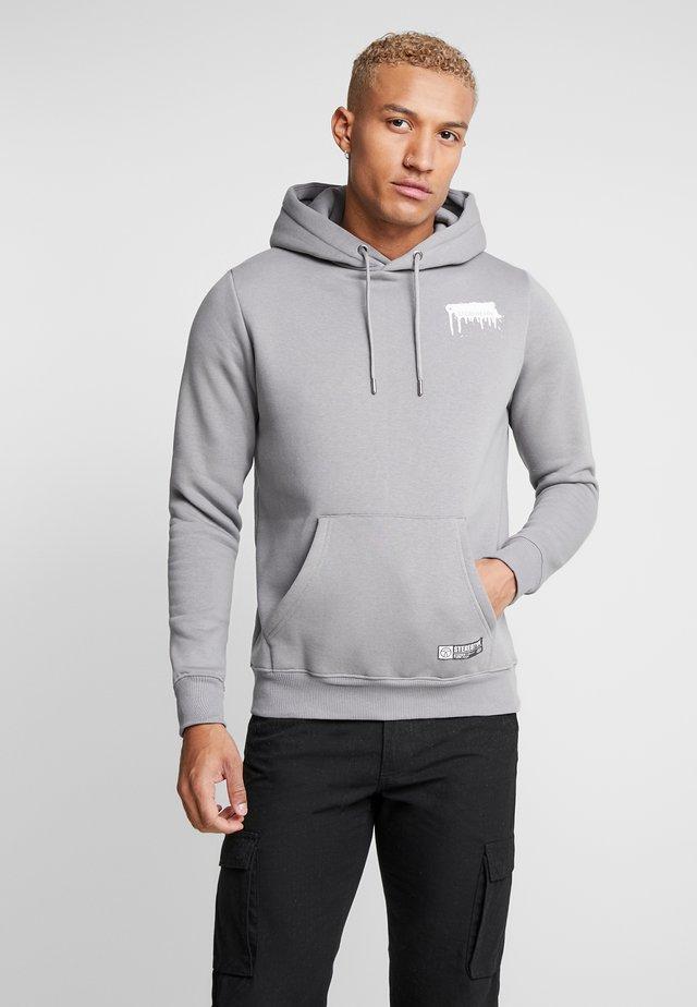 TAG HOOD - Sweat à capuche - grey