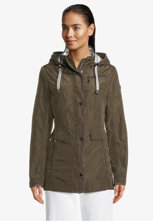 MIT ABNEHMBARER KAPUZE - Summer jacket - olivgrün
