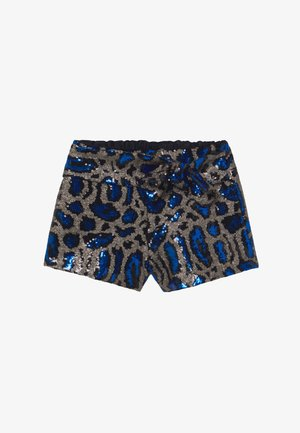 LEOPARD BOW - Shorts - blue