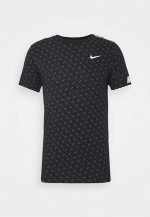 REPEAT TEE - Printtipaita - black/white