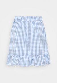 Vila - VIGRIMDA BELT SKIRT - Mini skirt - blue/white - 1