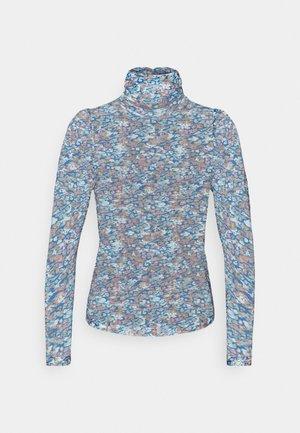 VMLULU HIGH NECK - Top sdlouhým rukávem - mykonos blue