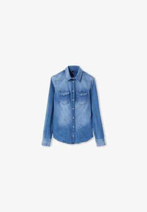Button-down blouse - light-blue denim