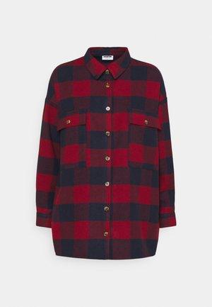 NMFLANNY LONG SHACKET  - Summer jacket - rhubarb/navy blazer