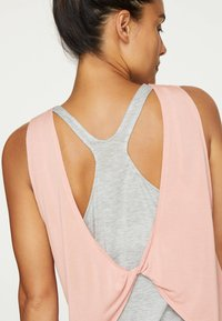 OYSHO - MODAL DOUBLE T-SHIRT - Top - rose - 3