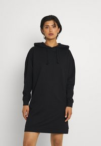 Vero Moda - VMOCTAVIALS HOODIE DRESS - Day dress - black - 0