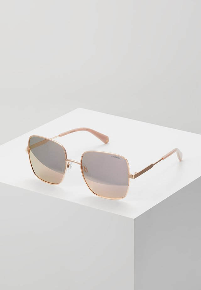 Sonnenbrille - gold-coloured/pink