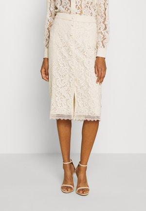SKIRT - Áčková sukně - whisper beige