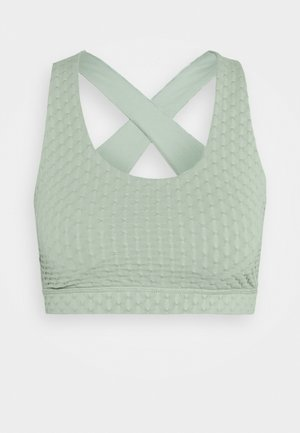 WORKOUT CUT OUT CROP - Sujetador deportivo - mint chip texture