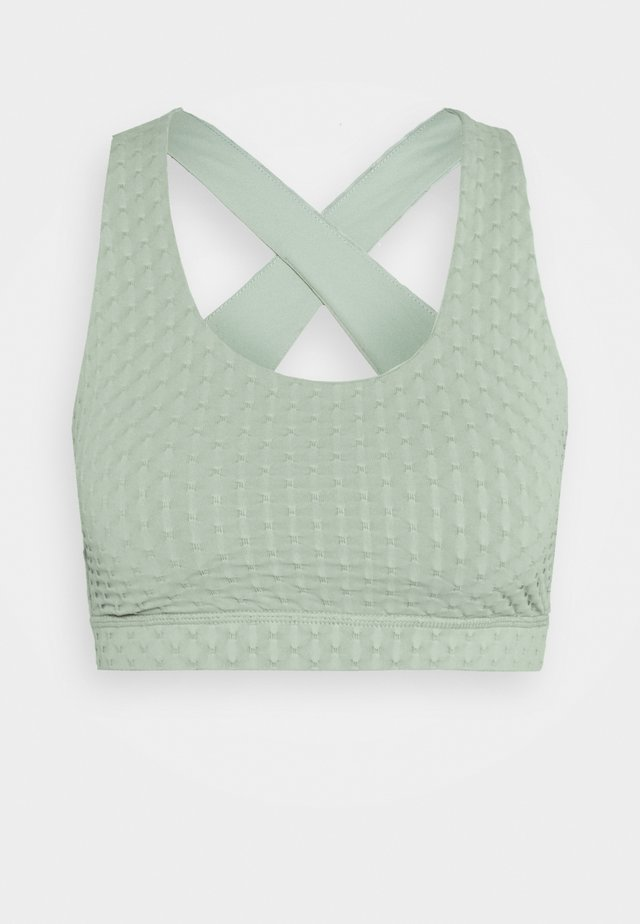 WORKOUT CUT OUT CROP - Reggiseno sportivo - mint chip texture