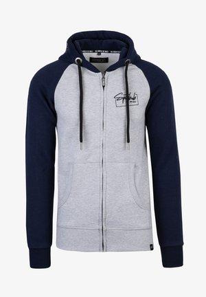 CARLO - Zip-up hoodie - grau/blau