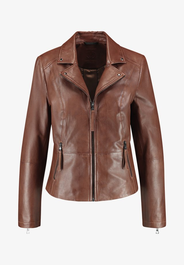 Leather jacket - zimt