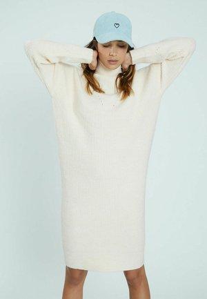 Gebreide jurk - naturweiß