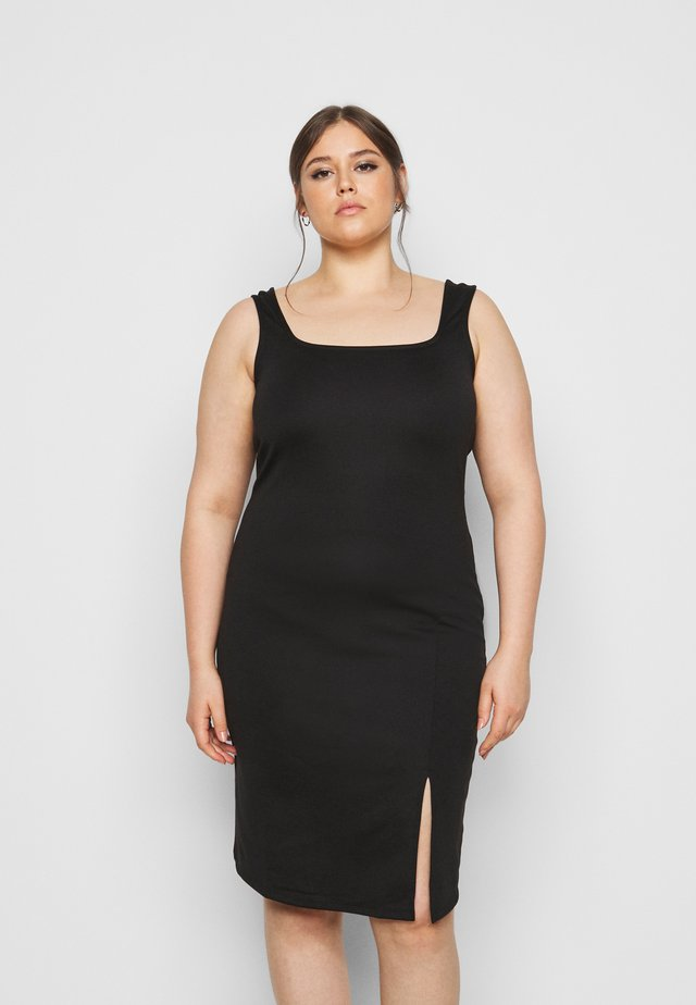 VMEDNA DRESS - Vestito di maglina - black