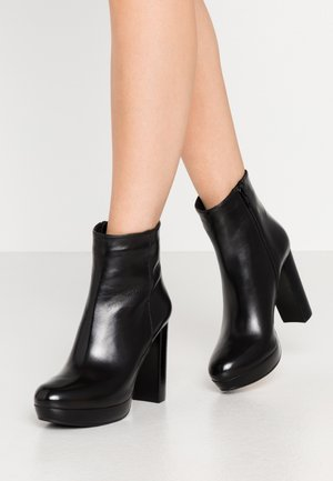 BARRY - High heeled ankle boots - black