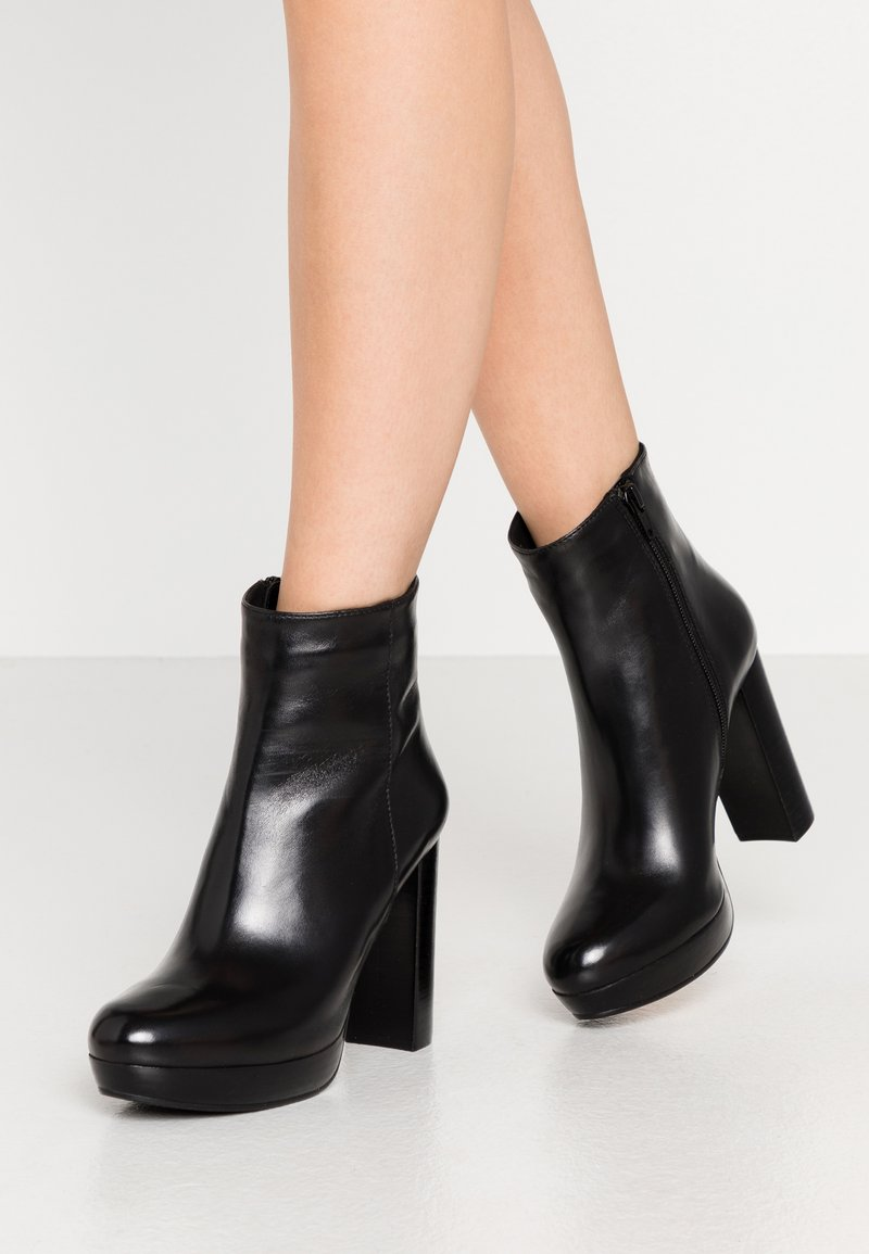 Steven New York - BARRY - High heeled ankle boots - black