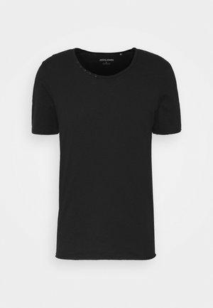 JJDETAIL TEE U NECK - T-Shirt basic - black