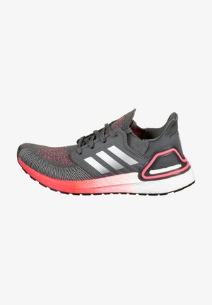 Stabilty running shoes - grey five / silver metallic / signal pink