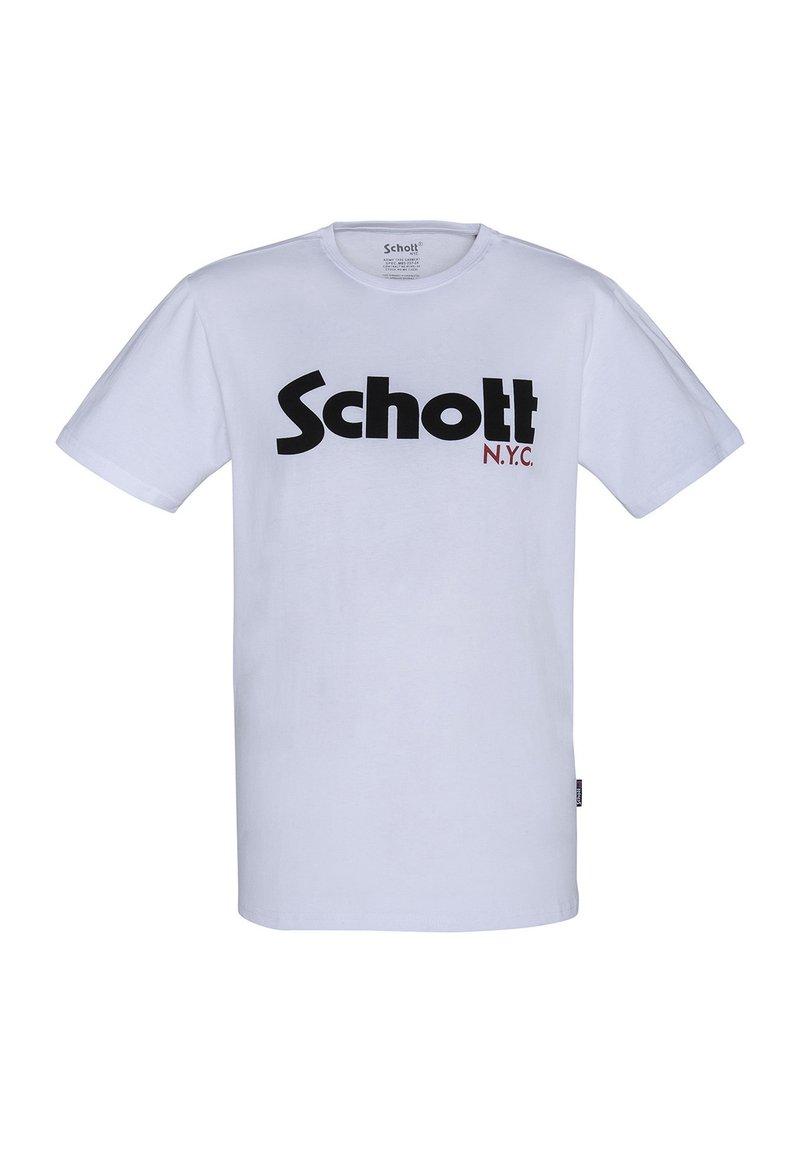 Schott - LOGO - Print T-shirt - blanc