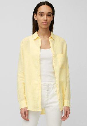 Button-down blouse - iced vanilla melange