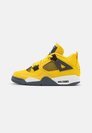 AIR 4 RETRO  - Höga sneakers - tour yellow/dark blue grey/multicolor